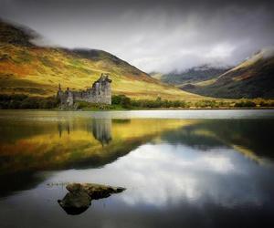 castle, scotland, and lake image