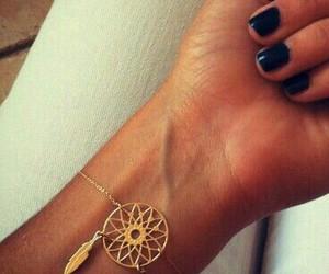 bracelet, gold, and nails image
