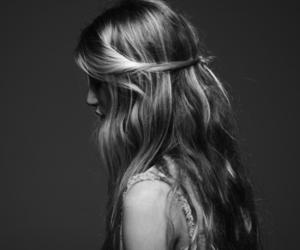 blacknwhite, girl, and style image