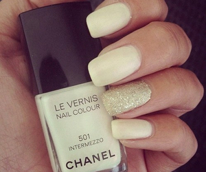 nails, chanel, and white image
