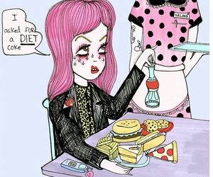 diet, food, and pink image