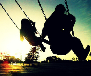 swing, sun, and love image