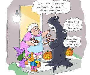 Halloween, funny, and snickers image