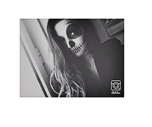 black and white and Halloween image