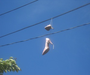 high heels and on the wire image