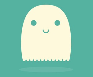 ghost, Halloween, and cute image