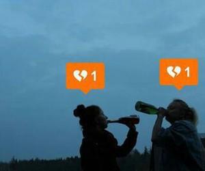 broken, drinking, and girls image