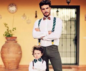 boy, dad, and son image