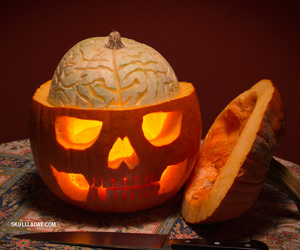 brains, calavera, and carving image