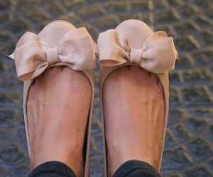 shoes, bow, and pink image