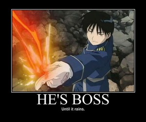 funny, fullmetal alchemist, and roy mustang image