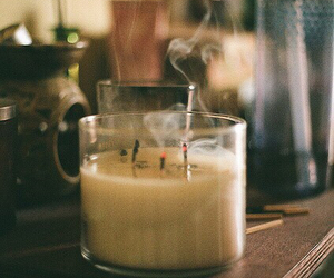 vintage, candle, and grunge image