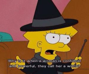witch, simpsons, and the simpsons image