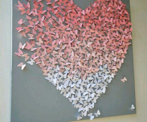 heart, butterfly, and art image
