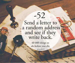 Letter, write, and random image