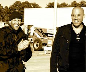 Jason Statham, Vin Diesel, and fast and furious image