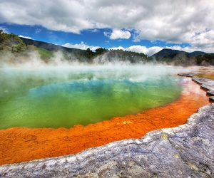 hot springs, new zealand, and waiotapu image
