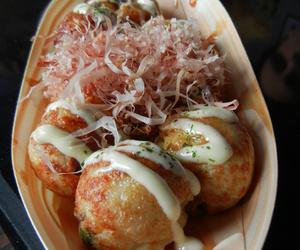 food, takoyaki, and yummy image