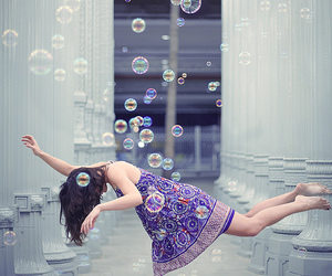 bubbles, girl, and pretty image