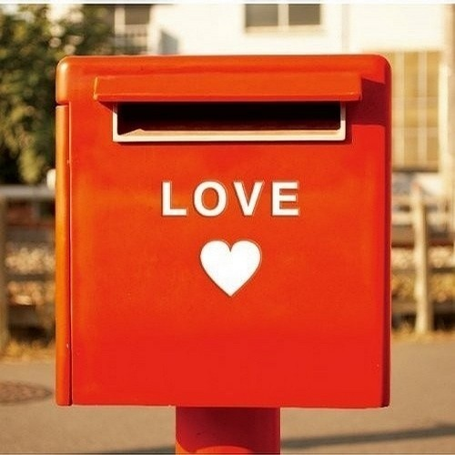 love, heart, and mailbox image