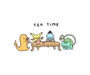 pokemon, tea, and tea time image