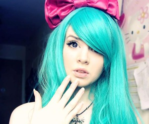 beautiful, blue hair, and colored hair image