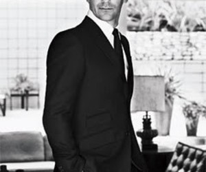 black and white, mad men, and don draper image