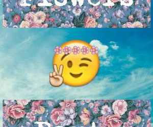 emoji, flowers, and party image