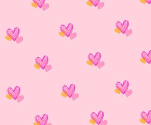 background, heart, and kawaii image