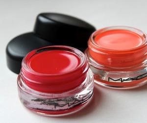 mac, makeup, and red image
