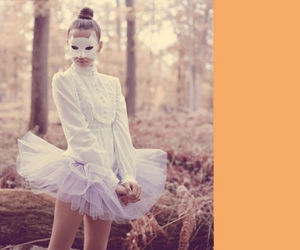 mask, ballet, and cat image