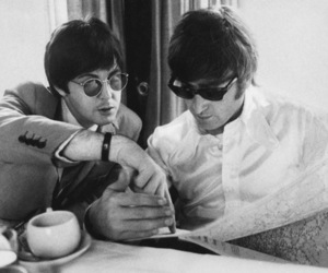 1960's, b & w, and john lennon image