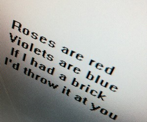 rose, brick, and poem image