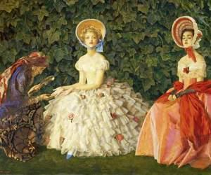 bonnets, Frank Cadogan Cowper, and ivy image