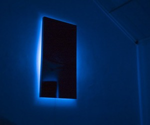 grunge, blue, and glow image