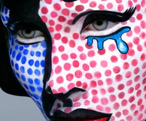 pop art, make up, and makeup image