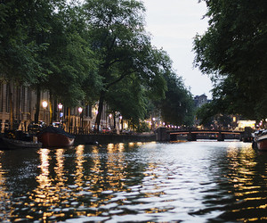 river, amsterdam, and city image