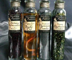 potion, bottle, and magic image