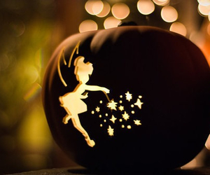 Halloween, pumpkin, and tinkerbell image