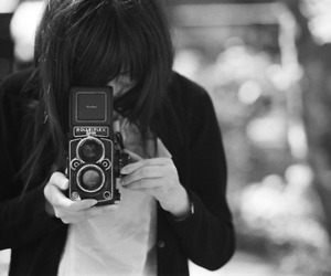 asian, black and white, and camera image