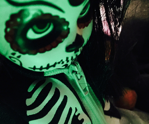 creepy, day of the dead, and doll image