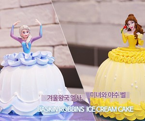 baskin robbins, beauty and beast, and frozen image