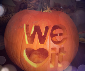 Halloween, pumpkin, and we heart it image