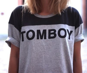 tomboy, fashion, and shirt image