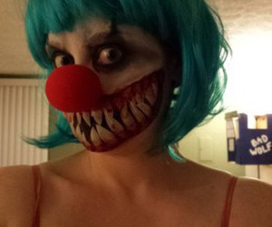 clown, make up, and girl image