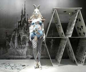 alice in wonderland, castle, and rabbit image