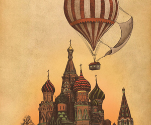 balloon, moscow, and illustration image