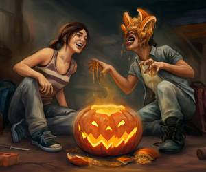 the last of us, art, and Halloween image