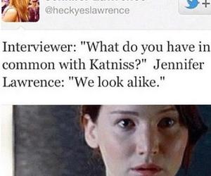 funny, Jennifer Lawrence, and hunger games image