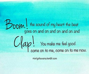 Lyrics, song, and boom clap image